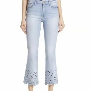 Frame Denim Le Crop Mini Boot Eyelet Jeans 27